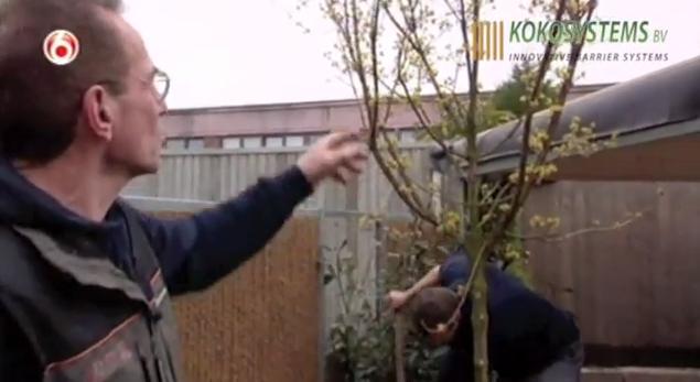 Kokosystems met Kokowall Tuinschermen in het SBS 6 programma Robs grote tuinverbouwing