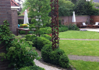 Rond tuinpad