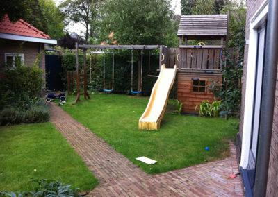 Speelelement in tuin